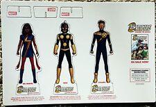 "MARVEL Champions Standees Promotional Item ~ Ms Marvel, Cyclops, Nova ~ 5"" Tall"