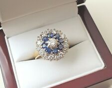 Vintage 18ct Gold Sapphire and Diamond Ring