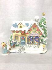 "Precious Moments Christmas Village ""Tiny Treasures Toy Shop"" - 79383, Lights up"