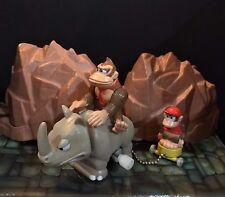 NINTENDO Donkey Kong Country Donkey Rambi Rhino Diddy Windup Figure JAPAN RARE