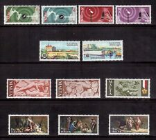 MALTA 1977 COMPLETE YEAR MINT HINGED & NH, 12 STAMPS # 535/43 & B27/29 !!