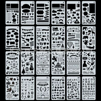 24pcs Bullet Journal Stencil Plastic Planner DIY Drawing Template Diary Crafts