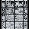 24pcs DIY Bullet Journal Stencil Set Plastic Planner DIY Drawing Template Diary