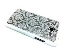 White Damask Flowers Hard Plastic Case For Samsung Galaxy Grand Prime SM-G530W