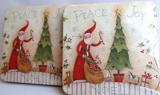 Santa Claus gift tins Lot of 2 boxes Susan Winget design