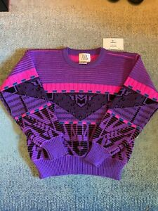 Vintage Nils 90s Knit Ski Sweater Womens Small