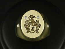 Aufwändiger Wappen Siegel Brillant Ring 0,20ct UVP 1.700,-- von 2012