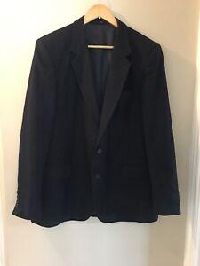 Hepworths Hardy Amies Blazer & Waist Coat,Navy Pin Stripe, Size 44R