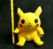 "Vintage Pikachu Pokemon 6"" Beanie Plush 1998 Nintendo Game Freak Split Tail"