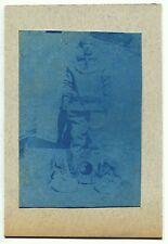 Cyanotype - Scaphandrier - Tirage d'époque 1895 -