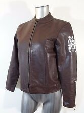 RVCA women's leather jacket brown M new