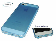 Neu Apple Iphone 5 5S Silikon Hülle Schutzhülle Tasche Etui Transparent Blau