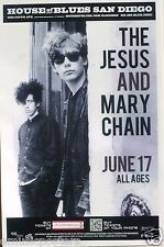 JESUS & MARY CHAIN 2012 SAN DIEGO CONCERT TOUR POSTER - Alternative Rock Music