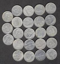 """Lotto """"5 LIRE"""":23 pezzi - Anno 1952-1953-1954-1955-1967-1968-1973-1974"""