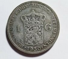 1930 Netherlands Silver 1 Gulden Fine Priced Right Shipped FREE C138