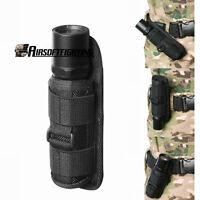 360 Rotating UltraFire Flashlight Holster Rotate Belt Clip Nylon Torch Bag Pouch