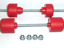 HONDA CRF250X CRF450X  MUSHROOMS FRONT & REAR AXLE SLIDER BUNGS BOBBINS RED  S3H