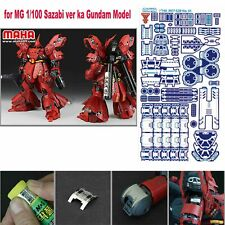 1/100 Detail up Photo Etch Parts for Bandai Mg Sazabi ver ka Gundam Model Kit