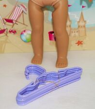 """CLOTHES HANGERS SET OF 5 FOR 15"""" AND 18"""" AMERICAN GIRL DOLL ACCESSORIES"""
