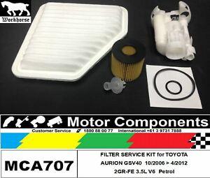 FILTER KIT for TOYOTA AURION 2GR-FE 3.5L V6 2006 > 2012