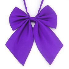 Fashion Women Bowties Neckwear Neck Tie Bow tie Wedding Banquet Party Purple