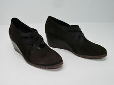 BOTTICELLI MADE IN ITALY BROWN SUEDE LEATHER WEDGE SHOES Sz. WOMEN'S 39