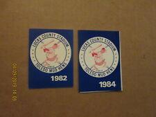 Toledo Mud Hens Vintage Circa 1982 & 1984 Team Logo Baseball Pocket Schedules
