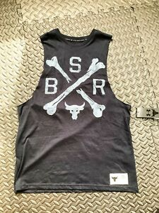 BLACK Under Armour Project Rock Mens Graphic Tank Top Shirt Sizes S M L XL XXL