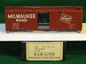 Kar-Line 99: 40' Milwaukee Road Boxcar Kit 29500