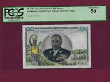 EQUATORIAL AFRICAN STATES Congo 100 FRANCS 1961 P-1c AUNC WEST FRENCH EAST
