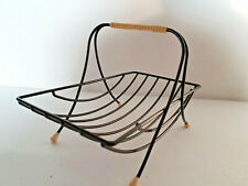 MID Century Korb Obstkorb Draht schwarz String Design