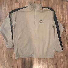 Longaberger Club Nike Golf Mens Fleece Jacket Beige Quarter Zip Long Sleeve Xl