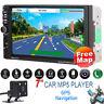 "GPS Navigation 7"" 2 DIN Car MP5 Player Radio Stereo MP3 Bluetooth FM+Camera+Map"