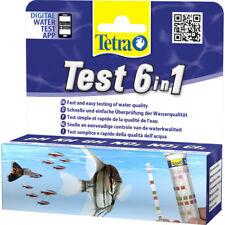 Tetra 6in1 Pack de 25 Tiras de Prueba de Agua Acuario PH KH GH NO2 NO3 CL
