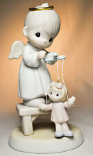 Precious Moments: The Good Lord Will Always Uphold Us - 325325 - Angel & Puppet