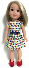 """Colorful Spring Dress for 14"""" American Girl Wellie Wishers Wisher Doll Clothes"""