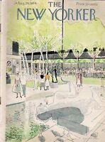 1954 New Yorker Aug 28 - Outdoor Art Exhibit