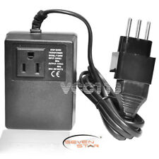 Seven Star Transformer 200W Step D 220/110 + Italy Travel Adapter Plug