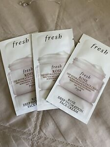 3x! Fresh Rose Deep Hydration Face Cream packet SAMPLE - 2 ml / 0.06 fl oz Ea