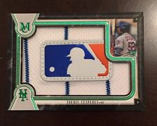 2018 Topps Museum Yoenis Cespedes 1/1 MLB Logo Patch Mets Logoman