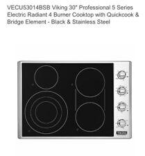 "Open Box VECU53014BSB Viking 30"" Pro 5 Series Electric Radiant 4 Burner Cooktop"