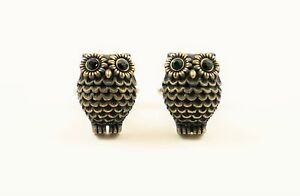 Owl Cufflinks--Forest Woodland Hunting Wildlife Nature Animal Bird Environmental