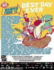 Vans Warped Tour 2013 Salt Lake Concert Poster-Chiodos, Reel Big Fish, Aquabats