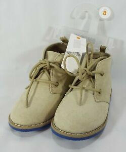 Gymboree Toddler Boys' Lace Up Desert Boot Faux Suede Tan