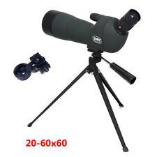 GOMU 20-60x 60mm Zoom Spotting Scope Monocular With Tripod + Free Phone Adapter