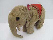 MES-44559Älterer Plüsch Zirkus-Elefant H:ca.15cm mit Holzwollstopfung,