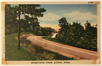 Greetings From Aitkin, Minnesota MN Postcard - 1947