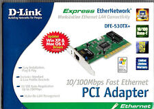D-Link 10/100Mb Fast Ethernet Adapter (DFE-530TX+) With Wake-On-Lan New In Box