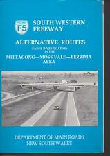 NSW DEPT of MAIN ROADS , SOUTH WESTERN FREEWAY F5 ALTERNATE ROUTES circa 1978