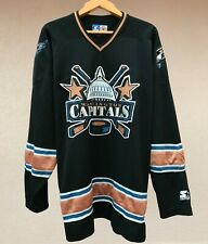 RARE WASHINGTON CAPITALS ICE HOCKEY JERSEY SHIRT NHL STARTER BLACK USA SIZE XL